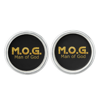 Christian Warrior Gold M.O.G. (Man of God) Cufflinks