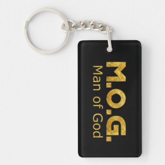 Christian Warrior Gold M.O.G. (Man of God) Keychain