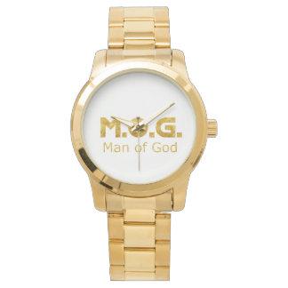 Christian Warrior Gold M.O.G. (Man of God) Wrist Watch