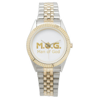 Christian Warrior Gold M.O.G. (Man of God) Wristwatches