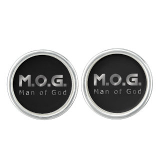 Christian Warrior Silver M.O.G. (Man of God) Cufflinks