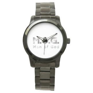Christian Warrior Silver M.O.G. (Man of God) Wrist Watch