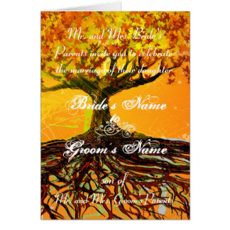 Christian Wedding Invitation-Two Become One Card