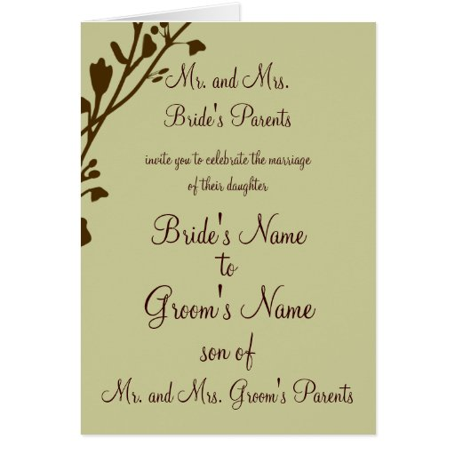 Christian Wedding Invitation-Two Become One Greeting Card