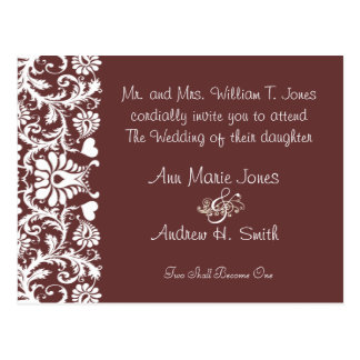 Christian Wedding Invite Any Color Custom Colors Postcard