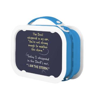 Christian woman Lunch box custom Devil whispered