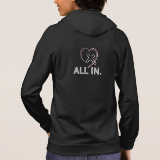 Christian Women Hoodies ALL IN Jesus Cross Heart