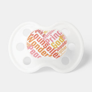 Christian Wonderful Counselor on Silver Pacifier