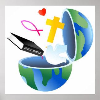 Christian World Poster