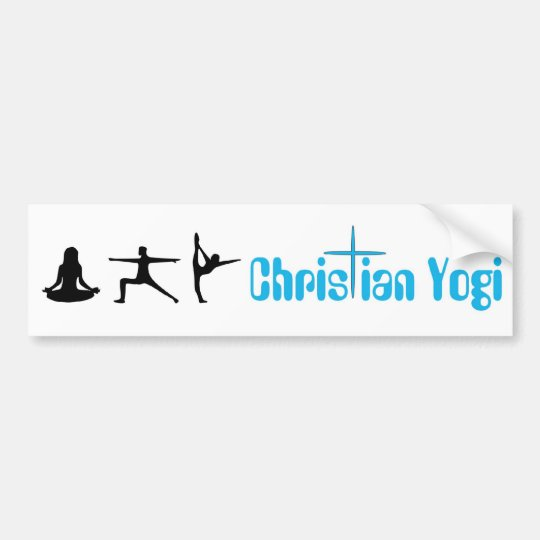 Christian Yogi Yoga Bumper Sticker