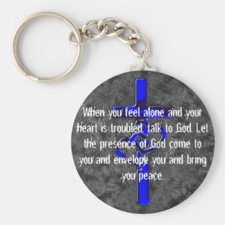 Christianity designs basic round button keychain