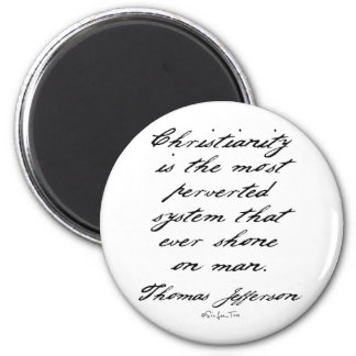 Christianity is Perverted 2 Inch Round Magnet