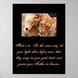 Christianity Scripture Matt 5:16 Poster