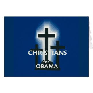 CHRISTIANS for Obama Card