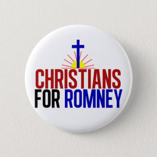 Christians for Romney 2 Inch Round Button