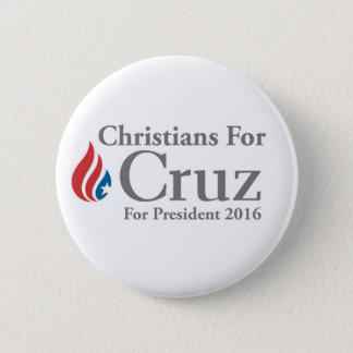 CHRISTIANS for Ted Cruz president button! 2 Inch Round Button