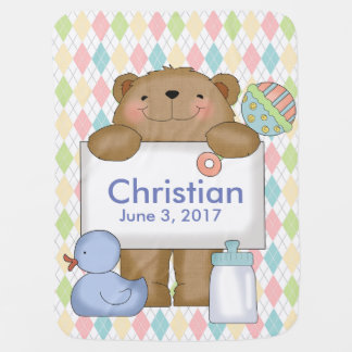 Christian's Good News Bear Personalized Gifts Baby Blanket