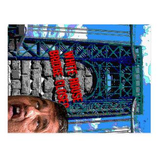 Christie Bridgegate - White House Bridge Closed Postcard