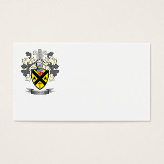 Christie Family Crest Coat of Arms Business Card