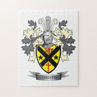 Christie Family Crest Coat of Arms Jigsaw Puzzle
