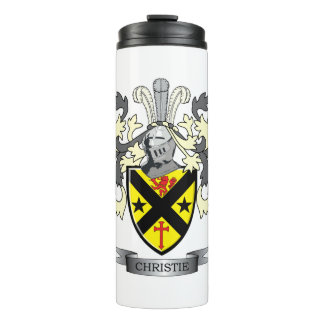 Christie Family Crest Coat of Arms Thermal Tumbler