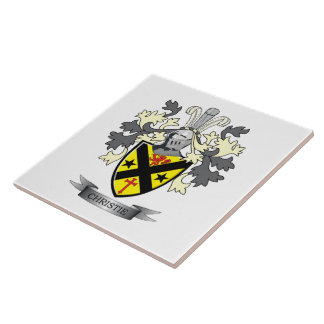Christie Family Crest Coat of Arms Tile