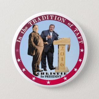 Christie for President 2016 3 Inch Round Button