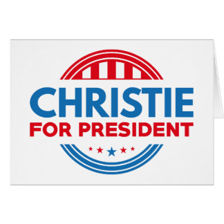 Christie For President Card