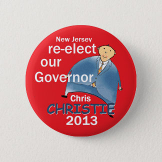 Christie Governor 2013 2 Inch Round Button