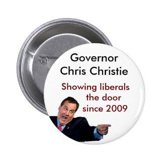 Christie Showing Liberals the Door 2 Inch Round Button