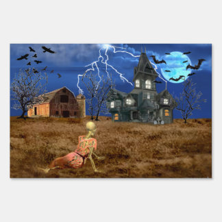 Christina's Halloween World Sign