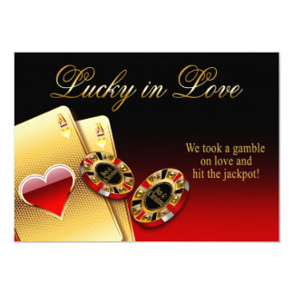 Christine3 Casino Wedding ASK FOR NAMES IN CHIPS Card