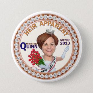 Christine Quinn NYC Mayor 2013 3 Inch Round Button