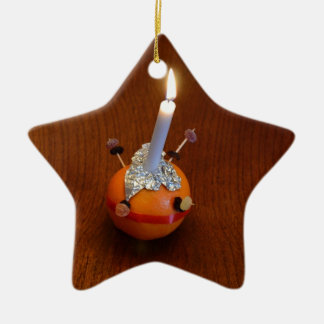 Christingle Ceramic Ornament