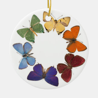 Christman ornament with butterfly ring