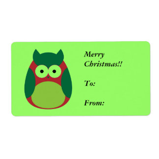 christmas_0012_Vector Smart Object, Merry Chris... Shipping Label