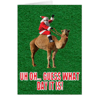 Christmas 2013 Hump Day Camel and Santa Card