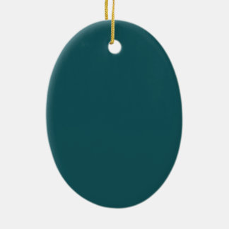 Christmas 2017 Ornament Teal Tree Scene
