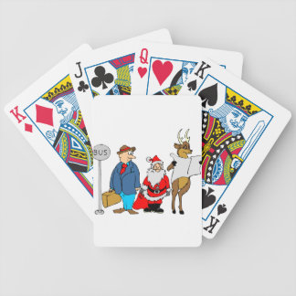 christmas-2879263 bicycle playing cards