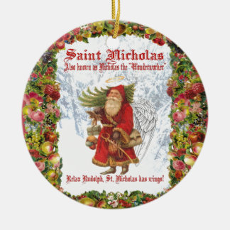 Christmas 4 Saint Nicholas the Wonderworker Ceramic Ornament