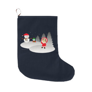 Christmas 6 large christmas stocking
