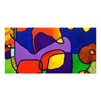 Christmas Abstract by Piliero Photo Greeting Card