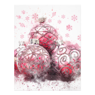 Christmas abstract decoration red balls letterhead