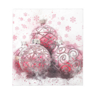 Christmas abstract decoration red balls notepad