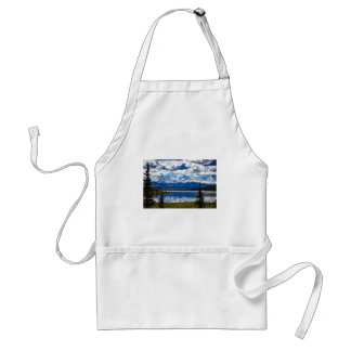 Christmas abstract mountains blue Alaska landscape Standard Apron