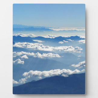 Christmas abstract sky heaven clouds mountains plaque