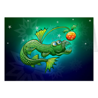 Christmas Abyssal Angler Fish Card