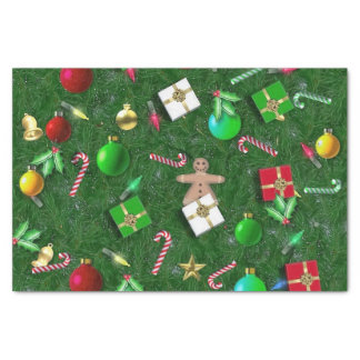 Christmas accoutrements tissue paper