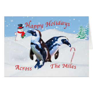 Christmas Across the Miles, Penguins in Snow Card
