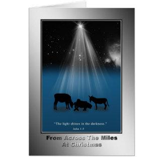 Christmas, Across the Miles, Religious, Card